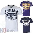 Mens Soulstar Linear Logo Print Crew Neck Short Sleeve Cotton T-Shirt Size BNWT