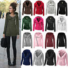 Womens Long Sleeve Hoodies Sweater Pullover Hooded Sweatshir