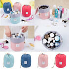 Внешний вид - Women Makeup Drawstring Pouch Bucket Barrel Shaped Cosmetic Bag Travel Case EN