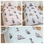 Childrens Brushed Cotton Single Duvet Dancing Penguins Choice Of Colours