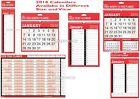 2018 Hanging Wall Calendar - Easy View Calendar-Slim Large Month to View Planner