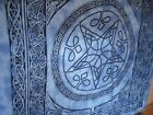 Blue, Purple or turquoise Celtic Star bedspread throw Fair Trade 100% Cotton NEW