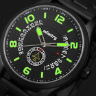 INFANTRY Mens Quartz Wrist Watch Date Day Leather Stainless Steel Sports Army