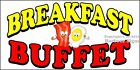 (CHOOSE YOUR SIZE) Breakfast Buffet DECAL Food Truck Sticker Sign Concession