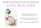 personalised party Invitations CHRISTENING NAMING DAY JEMIMA PUDDLEDUCK PINK #2