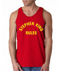 013 Stephan King Rules Tank Top funny halloween scary squad costume vintage new