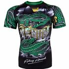 Venum Crocodile Rashguard Shortsleeve - Black/Green