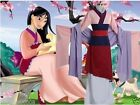 Women Adult Mulan Cosplay Costume New Halloween Dress Full Set Party Outfit UK