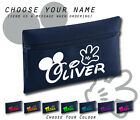 Disney Font Mickey Hands Any Name Personalised  Fr Navy Pencil Case School Gift