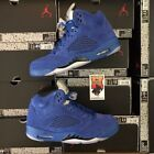 2017 Nike Air Jordan Retro 5 V BLUE SUEDE Game Royal LOT 136027-401 Sz:4y-15 <br/> IN STOCK AND READY TO SHIP! MOST TRUSTED JORDAN SELLER!