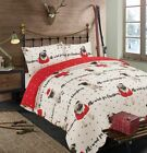 Christmas Pug Animal Print Duvet Set Quilt Cover with Pillow Cases Bedding Set