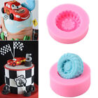 3D Car Tires Silicone Fondant Mold Cake Decor Baking Sugarcraft Mould Tools New