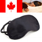 Satin Blindfold Sleeping Eye Mask Black Travel Shade Cover Rest Relax Sleep