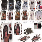 TX For iPhone 8/X/10 LG Huawei Meng pet series Wallet ID Card Leather Case Cover