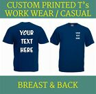 CUSTOM PRINTED PERSONALISED  T SHIRTS mans womans TEE  STAG HEN CHARITY RUN