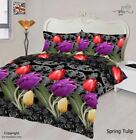 Spring Tulip 4Pcs Complete Bedding Set Duvet Cover Fitted Sheet & Pillow Cases
