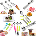 Stainless Steel Ice Cream Spoon Fruit Spoon Melon Baller Scoop Kitchen Tool C