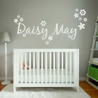 [WD101005E] Personalised Name Wall Sticker with Flowers