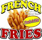 Fresh & Hot French Fries DECAL (Choose Your Size) Cone Food Truck Concession