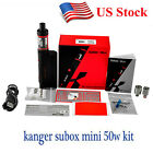 Kanger Subox Mini 4.5ml Starter Kit 50W VW Ohm Tank Full Kit US STOCK
