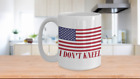 I Don't Kneel American Flag Patriotic 15oz Coffee or Tea Mug