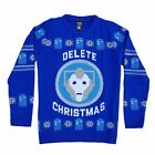 Doctor Who Cyberman Official BBC Christmas Xmas Jumper / Sweater - NEW in bag