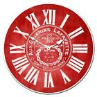 "Galeries Lafayette Red LARGE WALL CLOCK 10""- 48"" Whisper Quiet Non-Ticking WOOD"