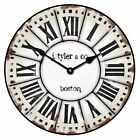 "Grand Estate LARGE WALL CLOCK 10""- 48"" Whisper Quiet Non-Ticking WOOD HANDMADE"