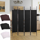4 Panel Screen Room Divider Fabric Metal frame Folding Partition Privacy