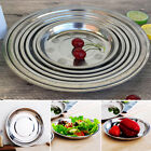 Camping 16-28CM Dia Stainless Steel Tableware Dinner Plate Food Container
