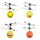 Funny Facial Expression Infrared Induction Flying Mini Helicopter Ball Kid Toy U