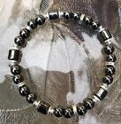 MEN & WOMEN'S UNISEX Small Beads MAGNETIC HEMATITE THERAPY BRACELET ALL SIZES