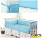 Crib Bumper Pad Baby Girl Boy Breathable Bed Bedding Pink Blue Padded Microfiber