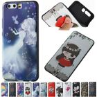 Soft TPU Painted Silicone Rubber Slim Case Cover For Huawei P8 P9 P10 Nova Mate