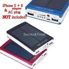 Dual USB Portable Solar Battery Charger Power Bank 30000mAh For Cell Phone USA