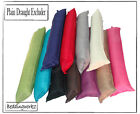 New Fabric Draught Excluder, Plain Coloured Effective Insulation Energy Saver