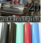 Hot Car Styling 2D Premium High Gloss Carbon Fiber Vinyl Wrap Sticker Decal Film