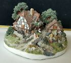 Danbury Mint Rare Vintage The Old Mill Jane Hart Cottage Mension Country Village