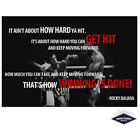 Rocky Balboa Mr T Quote Boxing Poster Quality Print 260gsm Premium Poster Paper