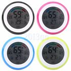 Touch Screen Digital LCD Temperature Humidity Meter Thermometer Alarm Clock HW