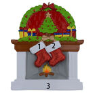 Personalized Fireplace Stockings Family Ornaments of 2 3 4 5 6 Christmas Gifts