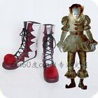 Stephen King's It Clown Pennywise PU leather Joker Halloween Cosplay shoes boots