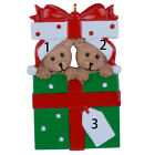 MAXORA Personalized Ornament Bear Family of 2 3 4 5 6 7 8 9 Christmas Gift