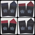 MEN'S POCKET HANKIES - SET OF POLKA DOT - FIXED PREFOLDED HANDKERCHIEF IN CARD