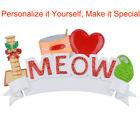 MAXORA Personalized Ornament I Love My Cat Meow Christmas Holiday Gift