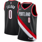 Mens Portland Trail Blazers Damian Lillard Black Swingman New Jersey S 2XL
