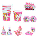 Unicorn Theme Party Supplies Decoration Birthday Paper Cup Plate Hat Box Finest