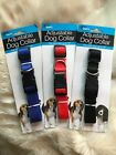 "Nylon Adjustable Dog Collar Fits up to 18"" Neck Red or Black"