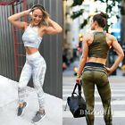 Damen Sport Hose Leggings Tights Tarnung Laufhose Fitnesshose Yoga Gym Jogging
