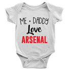 Me + Daddy Love Arsenal Babygrow Cool Body Suit Present Football